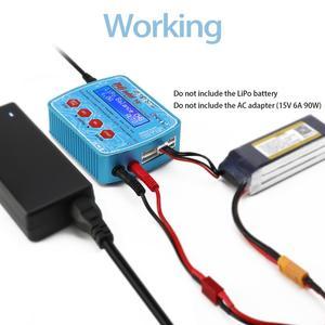 Image 5 - HTRC Imax B6 Mini V2 80W 7A Kỹ Thuật Số RC Pin Cân Bằng Sạc Adapter PB Lipo Lihv Liion Cuộc Sống niCD NiMH Pin Discharger