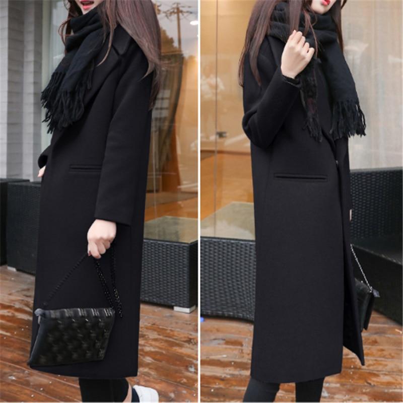 Winter Jacke Frauen Schwarz Freund Jacke Weiblichen Koreanischen Samt Mantel Warme Mode Lässig Lange Strickjacke Herbst Wolle Jacke Cape