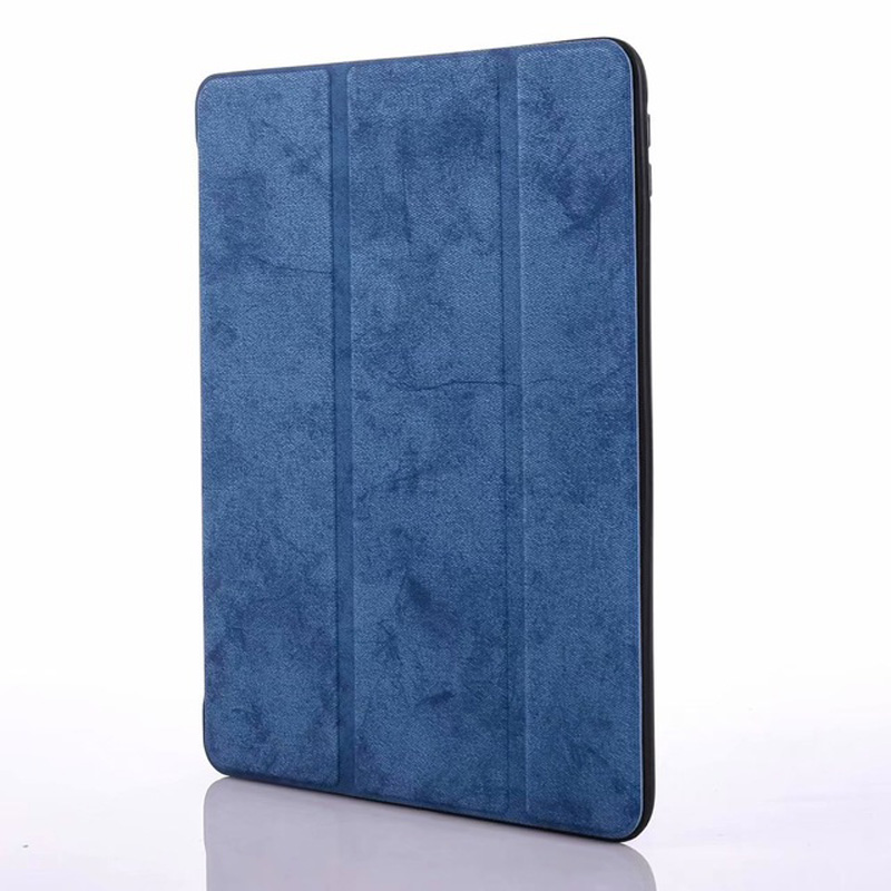 navy Red Smart PU Leather Case For iPad 10 2 2019 with Pencil Holder Cover for Apple iPad