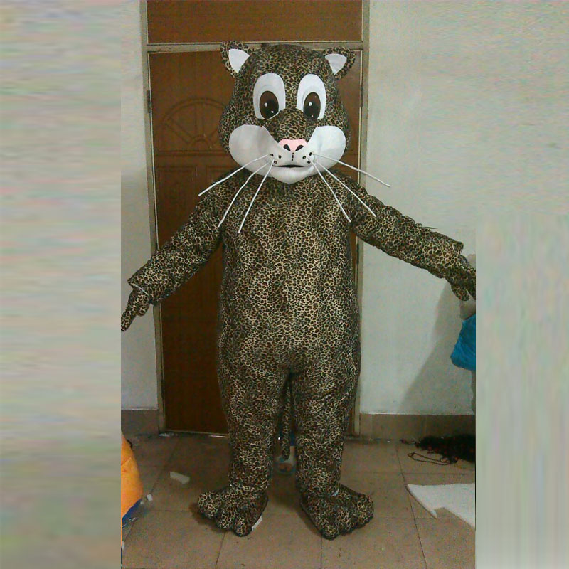 Popular new quality little leopard cat puma mascot costume cartoon character costumes