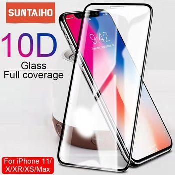 Suntaiho 10D szkło ochronne do iPhone X XS 6 6S 7 8 plus szkło ochronne do iPhone 13 12 ProMAX 11 XR szkło ochronne tanie i dobre opinie TEMPERED GLASS FOLIA HD Folia hartowana CN (pochodzenie) APPLE Folia na przód Easy to Install Ultra-thin Scratch Proof