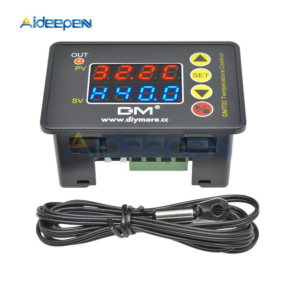Регулятор температуры для микрокомпьютера, 110 220 в перем. Тока, 12 В, 24 В, цифровой инкубатор с термометром и звуковым сигналом|Приборы для измерения температуры|   | АлиЭкспресс