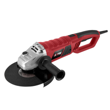 High Power Red Angle Grinder Hand Angular Metal Grinding and Cutting Electric Tool 2400W 230mm soft start KF-AG21