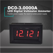 DC 0-100V 0-100A Red Blue Dual LED 5-bit Digital Voltmeter Ammeter Voltage + Shunt Display Header