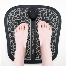 Электрический EMS Массажный коврик для ступней ног мышечный Стимулятор Массажный коврик для ног улучшает кровообращение снимает боль забота о здоровье