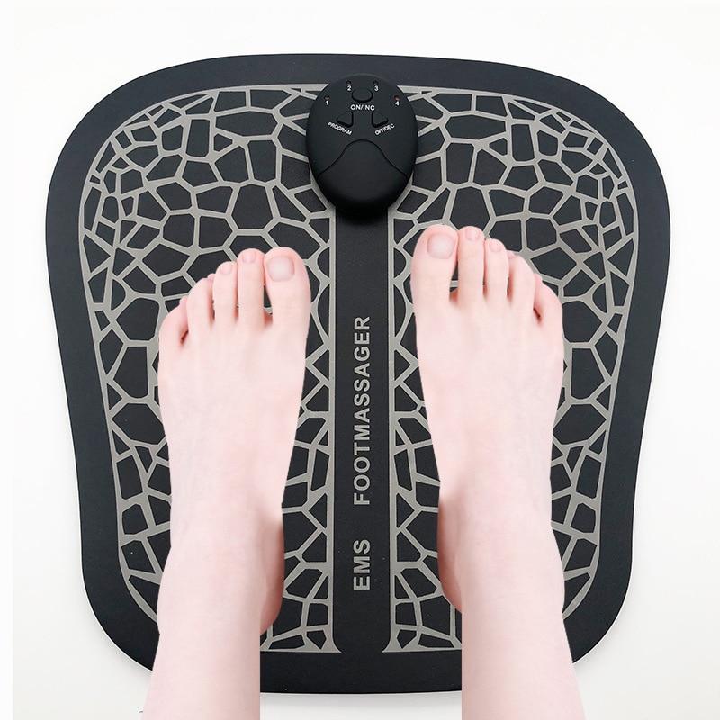 Electric EMS Foot Massager Pad Feet Muscle Stimulator Foot Massage Mat Improve Blood Circulation Relieve Ache Pain Health Care