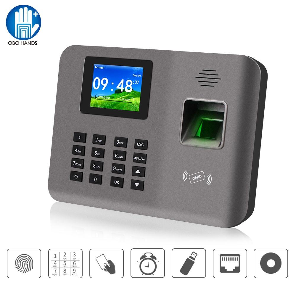 Realand 2.4inch Biometric Fingerprint Time Attendance Machine RFID Card TCP/IP/USB Attendance System Time Clock Device Software