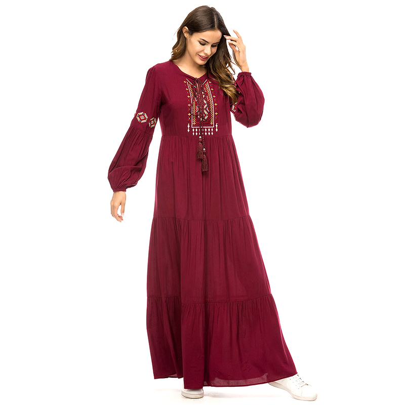 10pcs Abaya UAE Turkish Islamic Malaysia Ruffle Pleated Muslim Hijab Dress Abayas For Women Robe Musulmane Kaftan Dubai Clothing