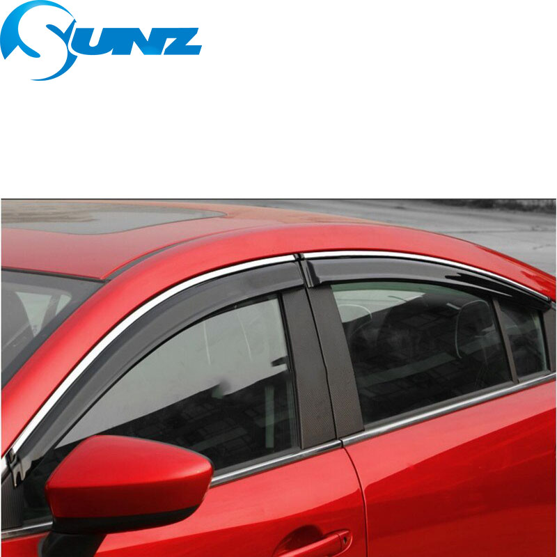 Image 5 - Side window deflectors For Mazda 6 ATENZA 2014 2015 2016 2017 2018 Door visor protector rain guard accessories Car Styling SUNZ-in Awnings & Shelters from Automobiles & Motorcycles