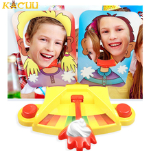 Family Party Fun Game Cake Cream Pie In The Face Funny Gadgets Prank Gags Jokes Anti Stress Toys For kids Joke Machine Toy Gift