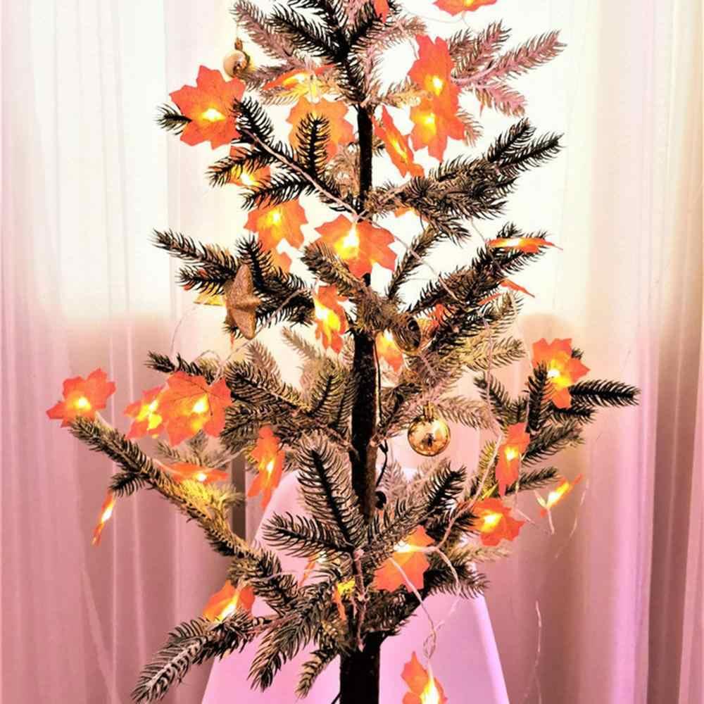 HA CONDOTTO LA Luce Della Stringa di Halloween Di Natale di Caduta di Autunno Foglie di Acero Ghirlanda Luce Ringraziamento Giardino Decorazione Della Festa Nuziale