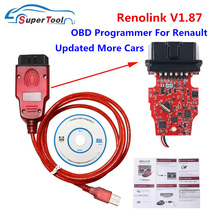 חדש Renolink V1.87 עבור רנו ECU מתכנת רינו קישור V1.87/V1.52 USB אבחון כבל ECU תכנית/מפתח קידוד/כרית אוויר איפוס