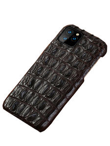 Crocodile Genuine Leather case For Iphone 11 pro max Original leather back cover For