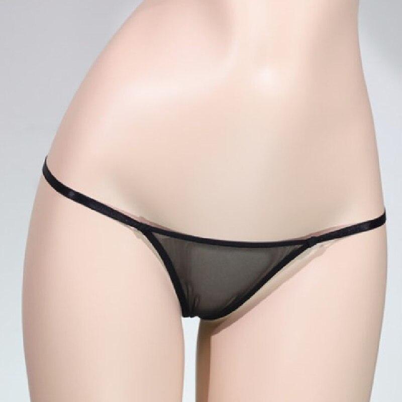 Women Sexy Panties Transparent Net Yarn Mini Ultra Low Waist Super Thin Thong Sheer Underwear Sex Appeal Ladies' Undergarments