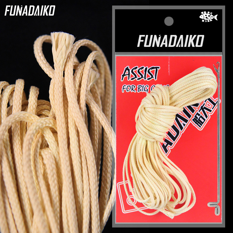 FUNADAIKO 16 Strand Kevlar Fishing Line String Strong Hollow Core Assist Line Boat Fishing Binding Jigging Hook Accessories