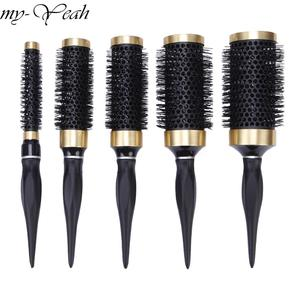 8 size Iron Hair Brush Anti-static High Temperature Resistant Round Barrel Hair Comb Drying Curling Barber Accessories DIY Home(China)
