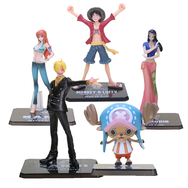 Japanese Anime <font><b>One</b></font> <font><b>Piece</b></font> Figure Tony Tony Chopper Robin Nami <font><b>sanji</b></font> After 2 Years PVC Action Figure Model Collection Toy gift image
