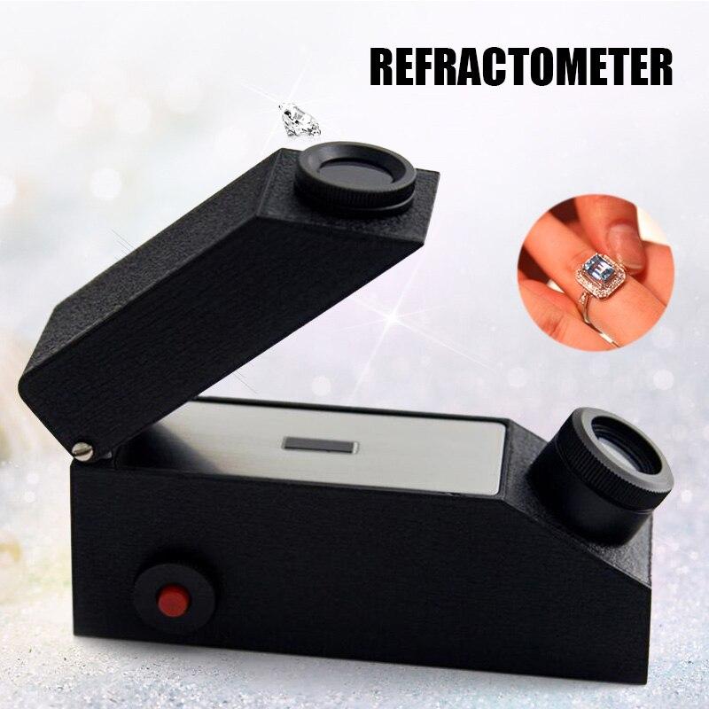 2019 Hot Sale Gem Instrument Gem Tool Refractometer Diamond Detector External With Light Source Measurement Range 1.30-1.81RI L9