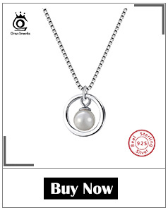 ORSA JEWELS 925 Sterling Silver Women Necklaces&Pendants Freshwater Pearls Unique Mermaid Pendants Fashion Female Jewelry PSN48