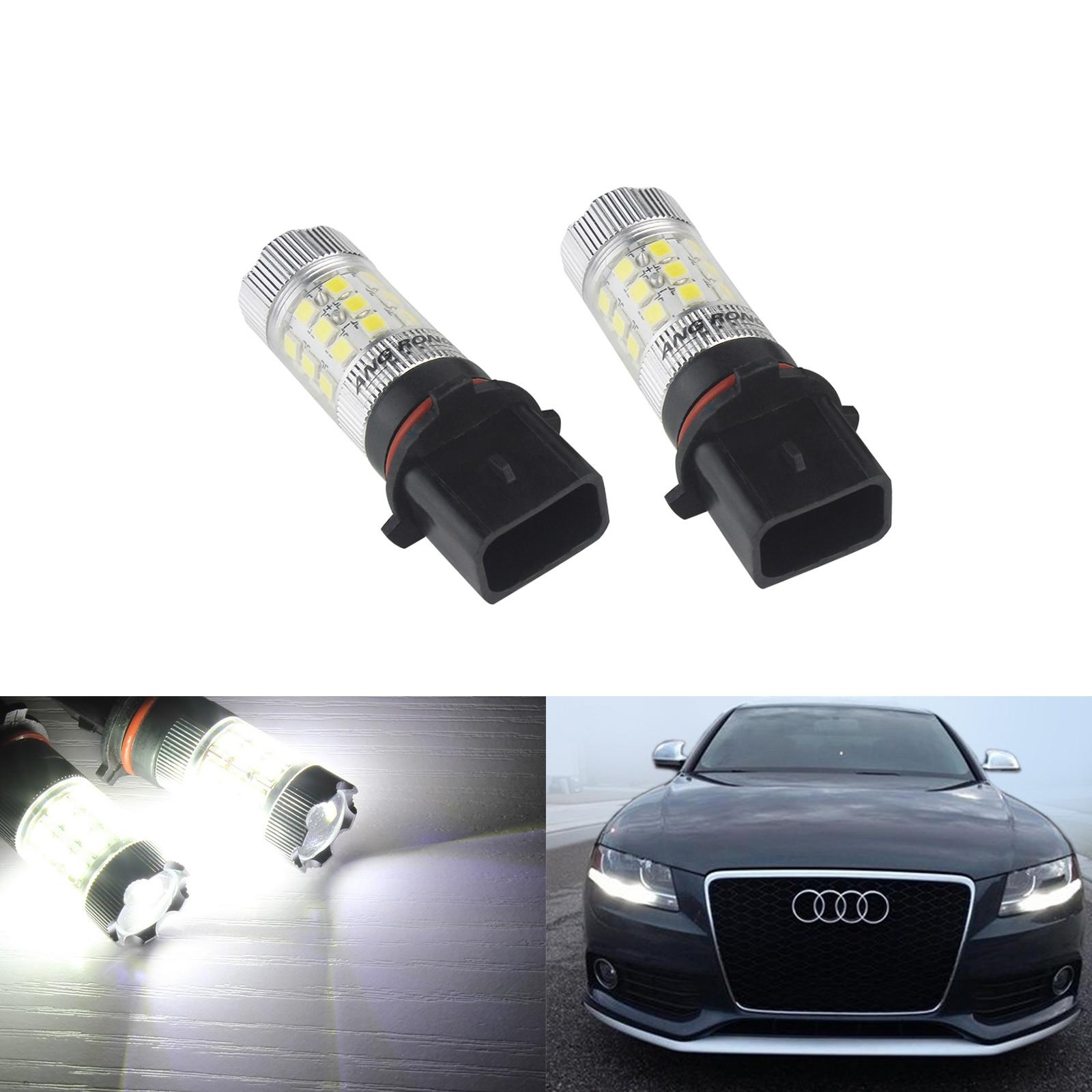 ANGRONG 2x P13W PSX26W Birne 30 SMD LED Projektor Nebel Lampe Tagfahrlicht DRL Weiß (CA268x2)