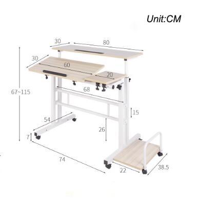 Купить стоячий компьютерный стол для ноутбука с клавиатурой мыши полка картинки
