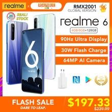 Realme 6 Global Versie 4Gb/8Gb 128Gb Mobiele Telefoon Helio G90T 30W Flash Lading 4300mah 64MP Quad Camera Eu Plug Nfc Play Store