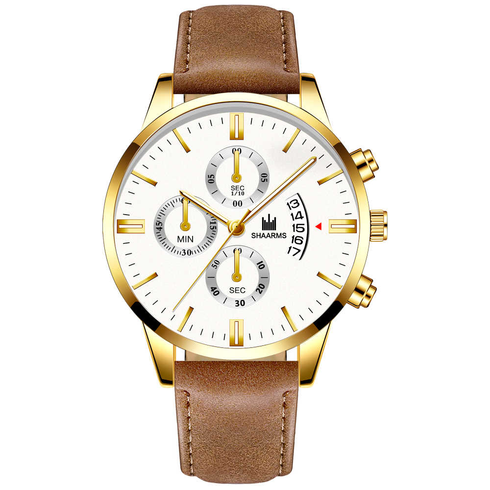 Relogio Masculino horloges mannen mode Sport box rvs lederen band horloge Quartz zaken horloge Reloj Hombre 2019