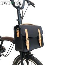 TWTOPSE Cycling Bike Bicycle Leather Bag For Brompton Folding Bike Classic Women Bike