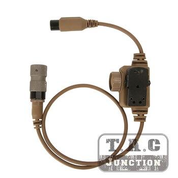 Tactical FCS RAC Dedicated PTT 6 Pins For FCS TCA TRI PRC-148/152 Military FCS ComTac 3 ACH Tactical Communication Headphones