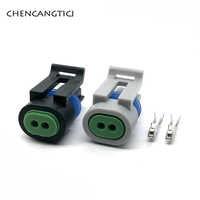 Delphi-conector de cable eléctrico impermeable, 2 pines, para GM 12162197 12162195 12162193, 5 Juegos