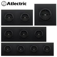 Atlectric EU/DE/RU Standard Power Plug Socket Electrical Outlet Plastic Panel Socket 16A 110-250V Wall Socket