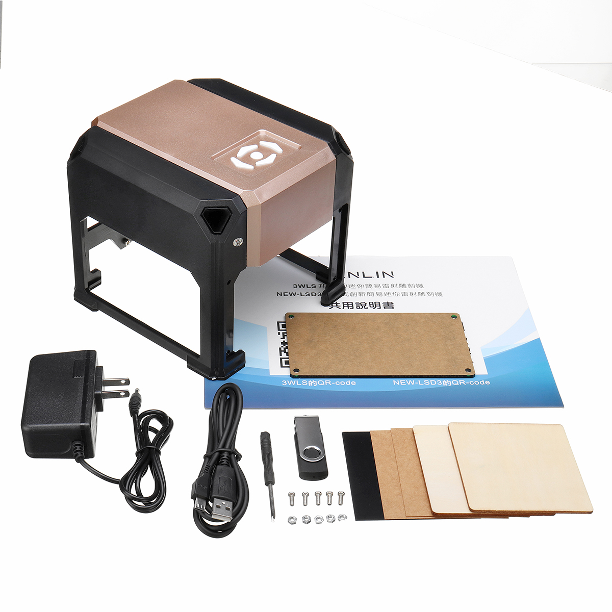 3000mW USB Laser Marking Machine Made With ABS And Aluminium Alloy Material 5