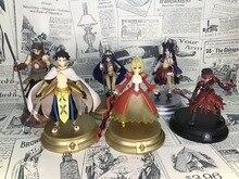6 pièces/ensemble 10CM destin Grand ordre quatrième bombe sabre Lancer Archer Assassin Ramesses Nitocris Ushiwakamaru PVC figurine jouets