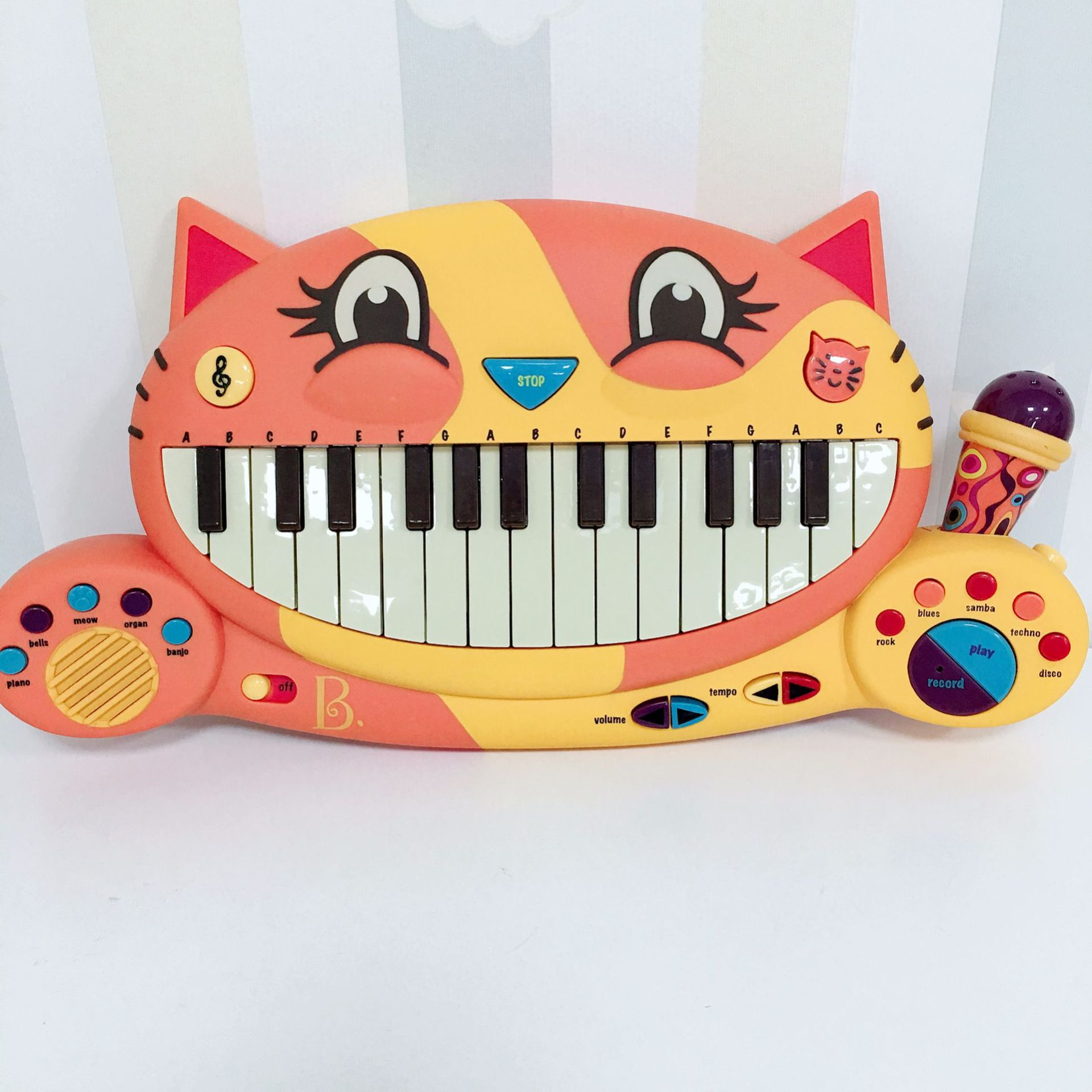 America B. Toys B. Mouthcat Piano Infants CHILDREN'S Cartoon Early Childhood Educational Electronic Piano Music Toy