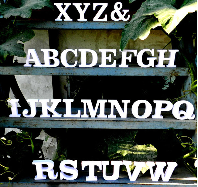 Decorative wooden letters 3d lette