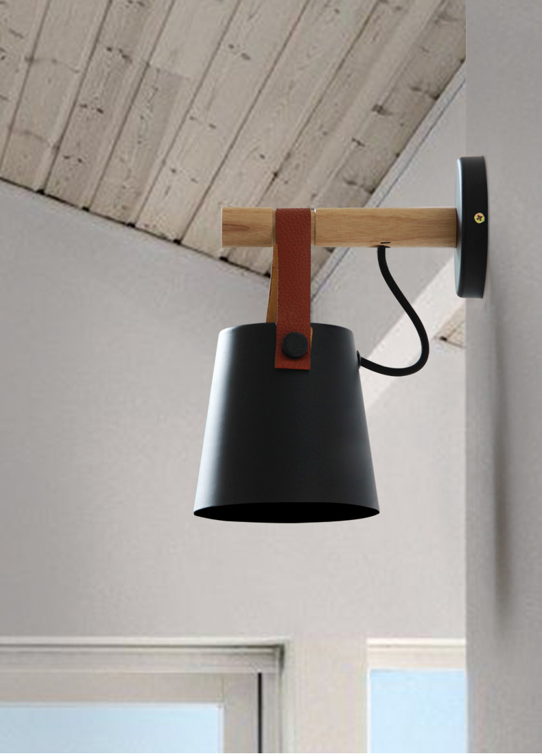 미국 농촌 창조 북유럽 간단한 복도 연구 머리맡 카페 항목 발코니 철 벨트 벽 램프-에서벽걸이 조명등.부터 등 & 조명 의