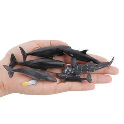 Детские игрушки, имитация морского существа, миниатюрная модель Кита, статическое твердое микроландшафтное украшение, настольные украшени...