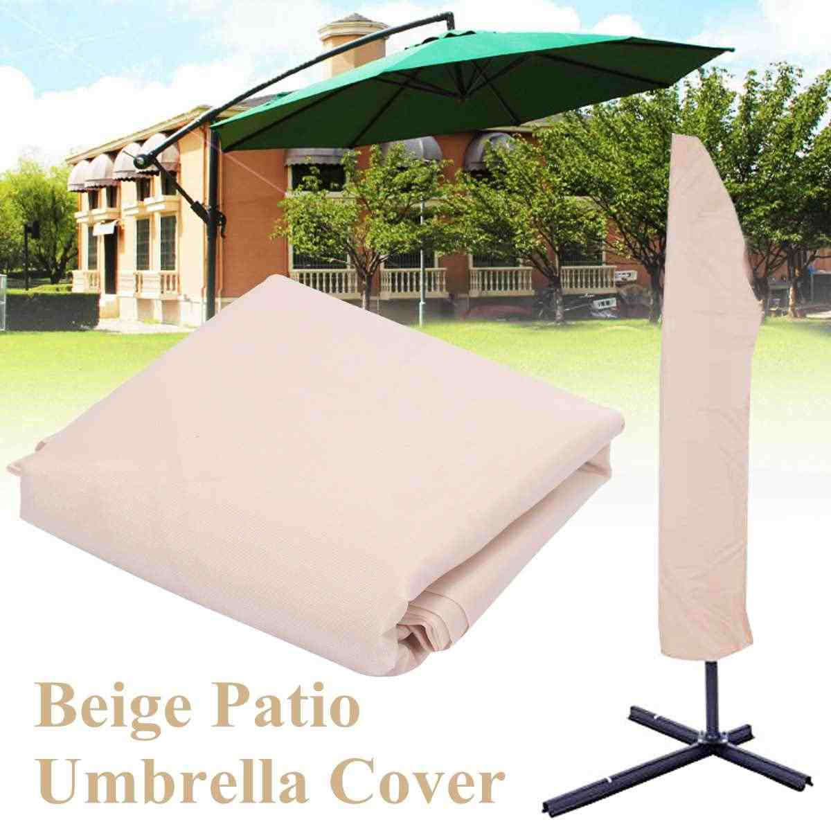 Garden Weatherproof Patio Cantilever Parasol Hanging Umbrella Patio Sun Shade Outdoor Umbrella Cover Waterproof Polyester