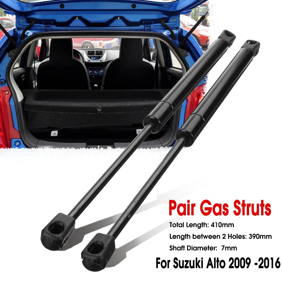 2 uds coche portón trasero de resorte de elevación de gas puntales bar para Suzuki Vitara Suzuki Splash Suzuki Alto Suzuki HA25 HA35 2009, 2010, 2011, 2012, 2013, 2014, 2015, 2016