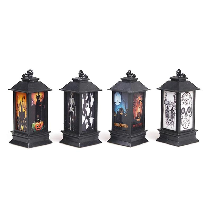 Creative Night Lamps Colorful Glowing Night Lighthouses Pumpkin Skull Halloween Props Halloween Decoration Holiday Lighting