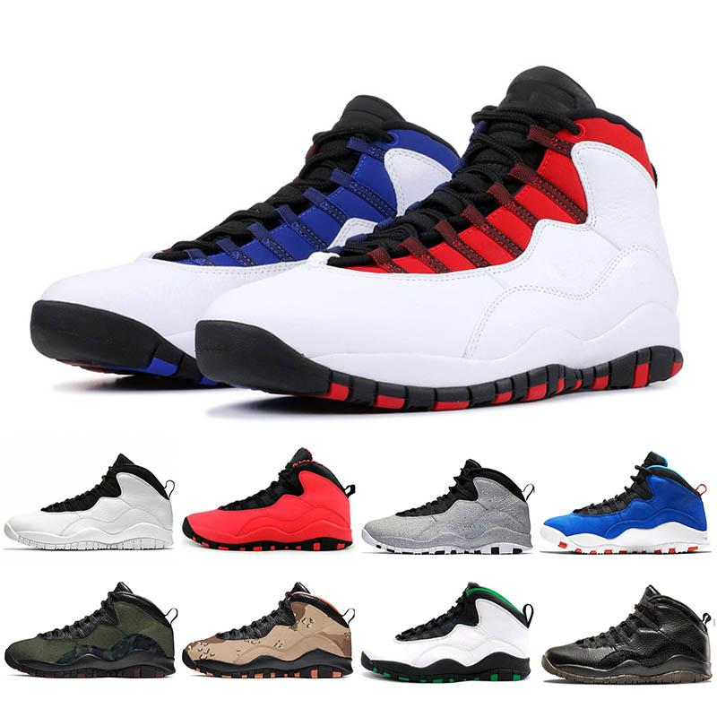 High Quality Retro 10 Seattle Mens Basketball Shoes Tinker Cement Cool Grey Camo Sport Fashion Sneakers  White Black Size 7-12