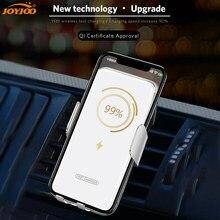 Sensor automático carro rápido sem fio carregador de ventilação ar montagem suporte do telefone móvel qi carregamento sem fio