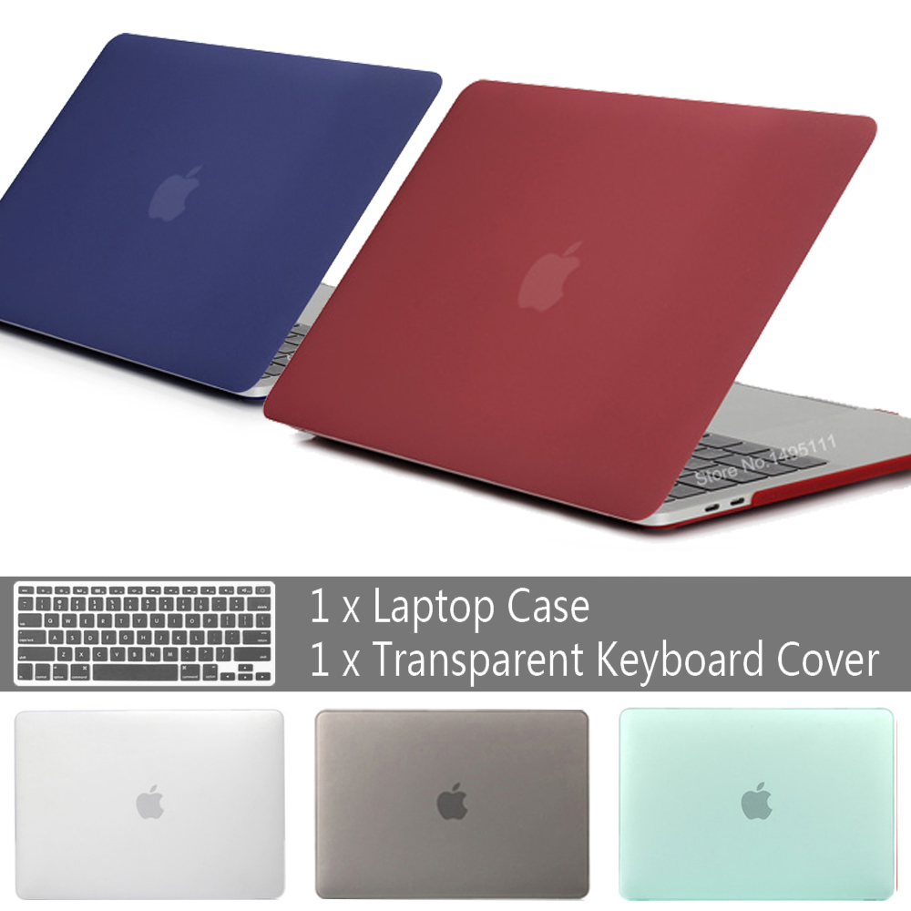 New laptop Case For APPle MacBook Air Pro Retina 11 12 13 15 <font><b>mac</b></font> pro 16 13.3 inch with Touch bar Sleeve Shell+Keyboard <font><b>Cover</b></font> image