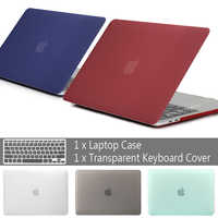 Nouveau étui pour ordinateur portable pour APPle MacBook Air Pro Retina 11 12 13 15 mac pro 16 13.3 pouces avec coque de barre tactile + housse de clavier
