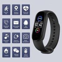 Más M5 inteligente banda Bluetooth Deporte Fitness podómetro M5 relojes inteligentes de monitor, con avisos de recordatorio inteligente pulseras