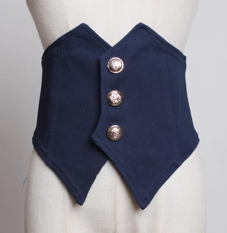 Women's Runway Fashion Fabric Cummerbunds Female Dress Coat Corsets Waistband Belts Decoration Wide Belt R1771