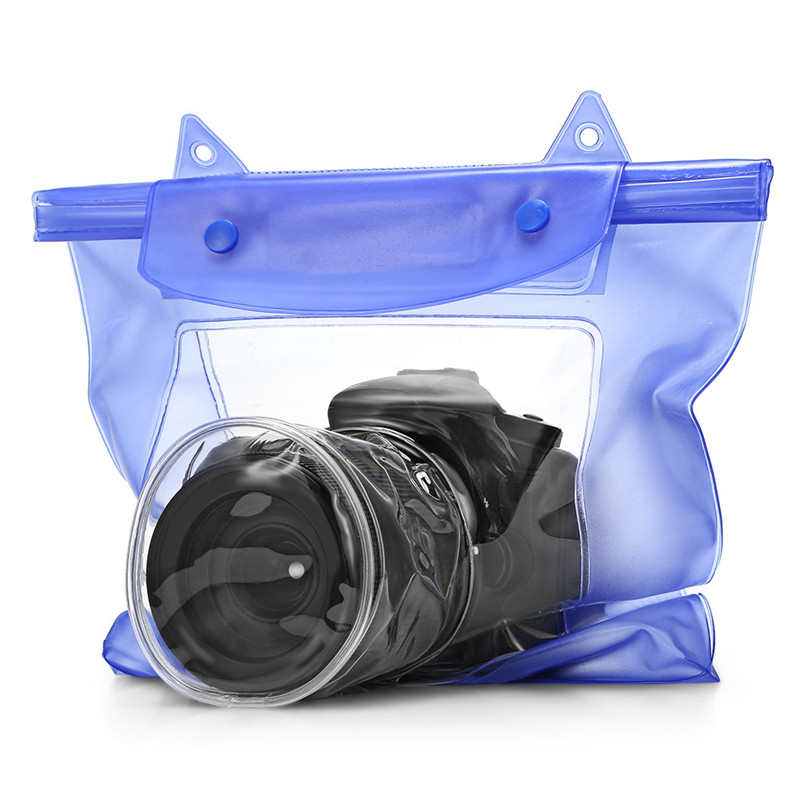 Universal Waterproof Camera Case DSLR SLR Camera Underwater Storage Dry Bag Transparent PVC Pouch