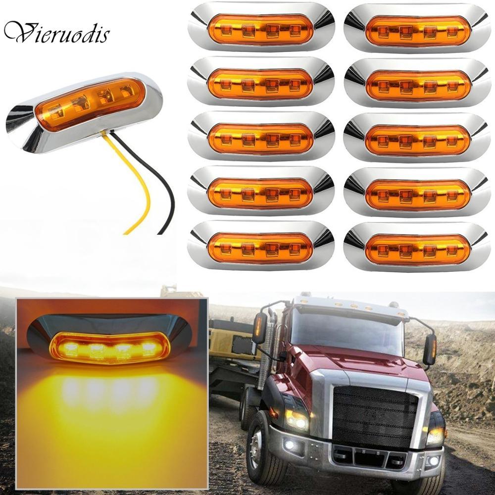 2pcs Car External Lights LED 12V/24V LED Auto Car Bus Truck Wagons Side Marker Indicator Trailer Light Rear Side Lamp