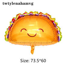 New Mexican Pancake Cartoon Smiling Face Aluminum Foil Balloon Food Festival Birthday Party Decorations For Children's Gift Toys