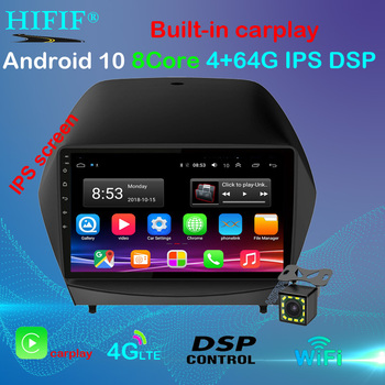 Android 10 9 2din Car Radio For 2009 2010 2011 2012-2015 Hyundai IX35 GPS Multimedia Player With Bluetooth WIFI OBD2 image